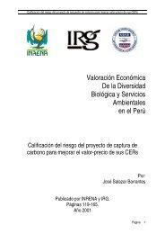 Valoración Económica De la Diversidad Biológica y ... - CDAM