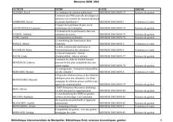 Les stratégies de création publicitaire MD/ISEM 2002.MON-73 Scien