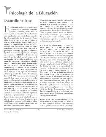 Psicología de la Educación - Consejo General de Colegios Oficiales ...