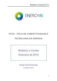 Relatório de Contas 2010 - Compete - Qren