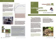 Living with Mammals Survey Update 2011 - People's Trust for ...
