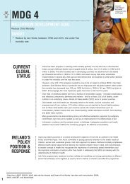 MDG 4 to reduce child mortality Factsheet - Irish Aid