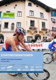 TN-Infoheft KITZBUEHEL 2012 - ITU World Triathlon Kitzbuehel