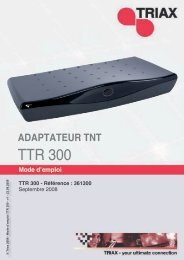 Manuel TTR 300 - Triax