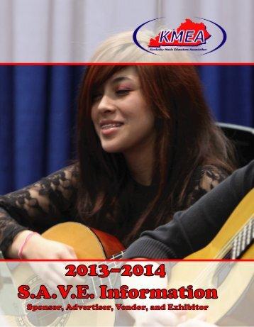 2013–2014 KMEA SAVE Packet - Kentucky Music Educators ...