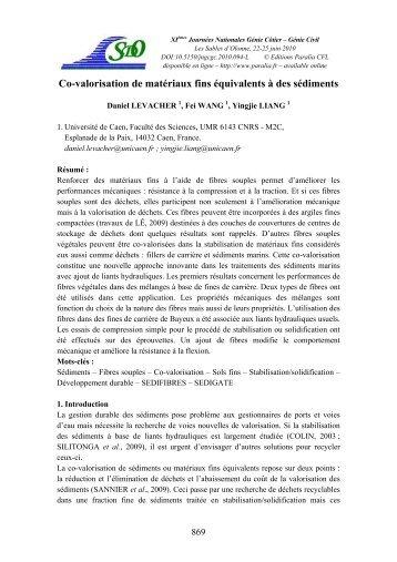 Co-valorisation de matériaux fins et sédiments - Paralia.fr