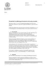 Föreskrifter för utbildning på forskarnivå vid Lunds universitet