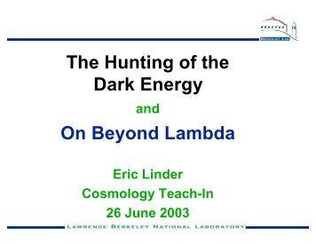 Dark Energy - Supernova Cosmology Project
