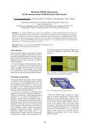Resonant MEMS microsensor for the measurement of fluid ... - UMEL