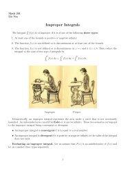 Improper Integrals