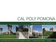 Cal Poly Pomona Conceptual Master Plan