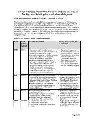 Common Strategic Framework Funds in England 2014-2020 ...