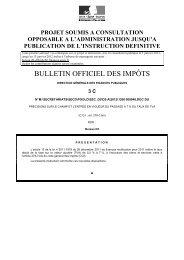 BULLETIN OFFICIEL DES IMPÔTS - LexisNexis