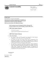 2005 World Summit Outcome - Office of the High Commissioner on ...