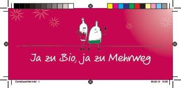 Ja zu Bio, ja zu Mehrweg - Peter Riegel Weinimport GmbH