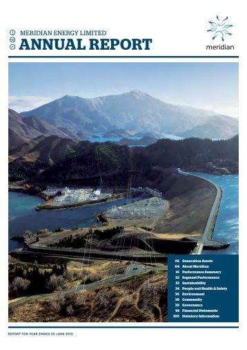 Meridian Energy Annual Report Year Ending June 2012 - Crown ...