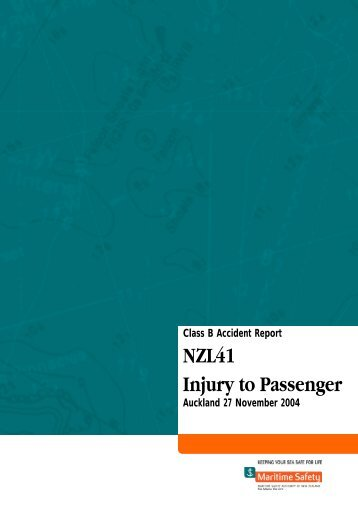Accident Investigation Report Commercial Passenger NZL41 ...