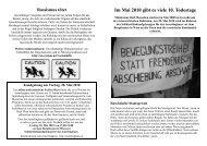 Flugblatt: Im Mai 2010 gibt es viele 10. Todestage - No Racism
