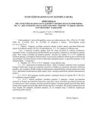 Dėl Panevėžio rajono savivaldybės