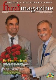 FHRAI Magazine - Federation of Hotel and Restaurant Associations ...