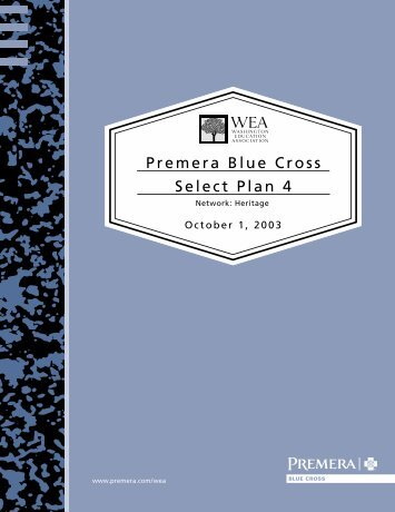 Premera Blue Cross Select Plan 4