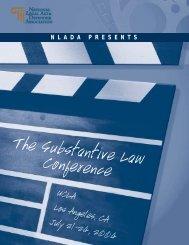 NLADA 2004 Substantive Law Conference Registration Brochure