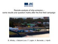 Remote analysis of ship emission - Climate Change and Air Quality ...