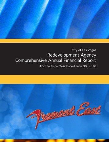 Redevelopment Agency Comprehensive Annual ... - City of Las Vegas