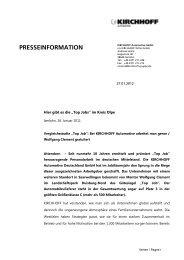 KIRCHHOFF Automotive - Kirchhoff Gruppe