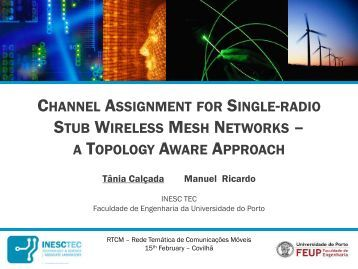 channel plan through cell based stereo networks