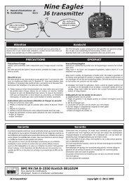 Nine Eagles J6 transmitter - BMI-models