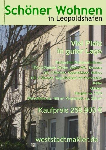 Viel Platz in guter Lage Viel Platz in guter Lage - weststadtmakler.de