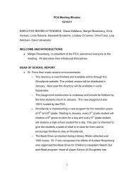 PCA Meeting Minutes 12/14/11 - Woodlynde School