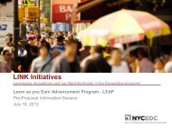 LINK Initiatives Leveraging Innovations and our ... - NYCEDC
