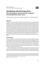 Mediating school inspection – Key dimensions ... - Umeå universitet