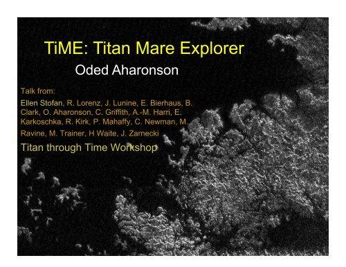 TiME: Titan Mare Explorer