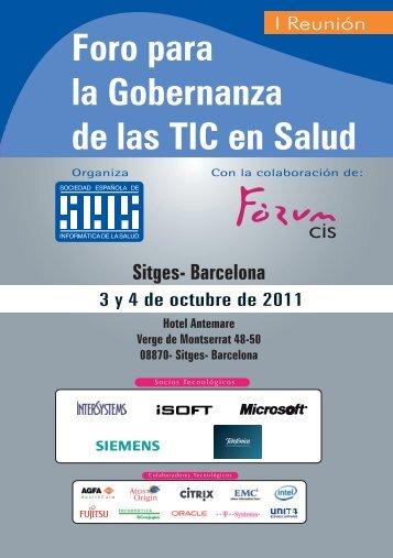 Foro para la Gobernanza de las TIC en Salud - Sociedad Española ...