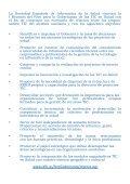 Foro para la Gobernanza de las TIC en Salud - Sociedad Española ... - Page 2