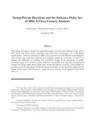 Going-Private Decisions and the Sarbanes-Oxley Act of 2002: A ...