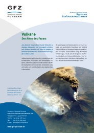 Vulkane - Der Atem des Feuers - GeoForschungsZentrum Potsdam