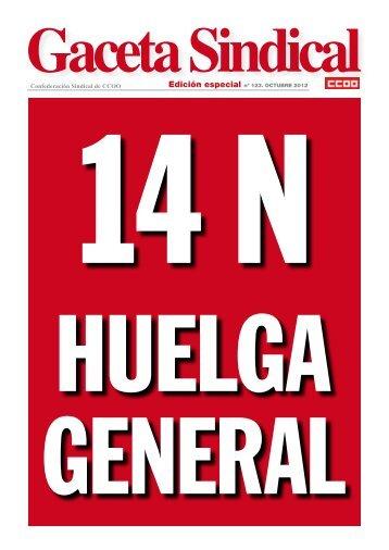 Gaceta Sindical nº 123: 14 de noviembre, huelga general