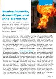 USBV, Explosivstoffe, Anschläge - Kripo.at