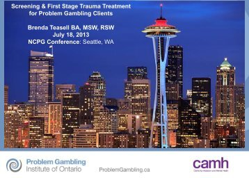 Screening & First Stage Trauma Treatment for Problem Gambling ...