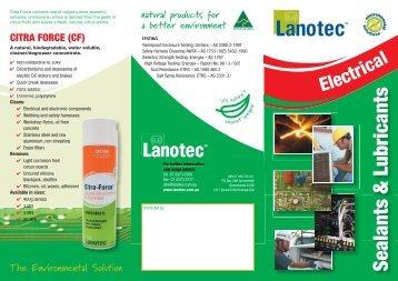 Lanotec Electrical Brochure - E. Fox (Engineers)