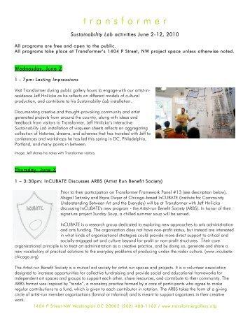 Sustainability Lab June Schedule PDF - Transformer