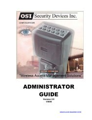 WAMS Admin Guide - OSI Security Devices