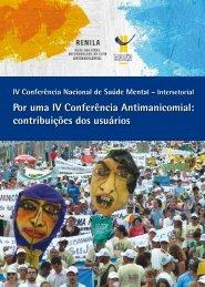 IV Conferência Nacional de Saúde Mental – Intersetorial - Conselho ...