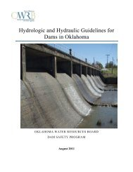 Hydrologic and Hydraulic Guidelines for Dams in Oklahoma - Water ...