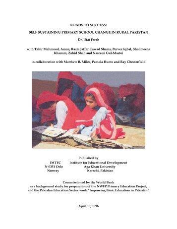 self sustaining primary school change in rural pakistan - Aga Khan ...