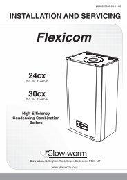 GlowWorm Flexicom CX HE Combi 24 & 30 Installation ... - BHL.co.uk